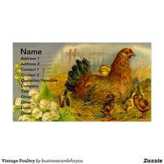 Vintage Poultry Business Card