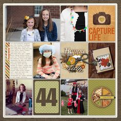 Project Life 2014: Week 44 - Digital Scrapbooking Ideas - DesignerDigitals.com #projectlife #digitalprojectlife #scrapbook