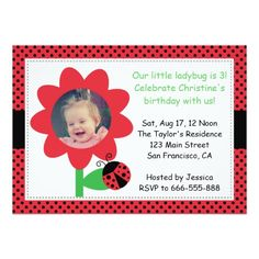 388 best 3rd birthday party invitations images on pinterest 23 cute ladybug turns 3 3rd birthday polka dots invitation filmwisefo