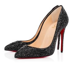 Pigalle Follies Strass Suede - Christian Louboutin