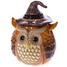 Our Stoneware Harvest Owl Cookie Jar is part of our signature Harvest Collection, featuring autumn apparel, accessories, home decor and more. Shop now to create your own gorgeous and grateful gathering with Cracker Barrel Cracker Barrel Store, Modeling Clay Recipe, Owl Clothes, Fall Owl, Owl Artwork, Owl Quilts, Ceramic Owl, Vintage Cookies, Cookie Jars
