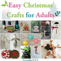 Our simple Christmas crafts for seniors and elderly are easy yet attractive.Our simple Christmas crafts for seniors and elderly are easy yet attractive. Perfect for gifts too. Easy to modify & also fun to Christmas Crafts For Adults, Summer Crafts For Kids, Holiday Crafts, Holiday Ideas, Simple Christmas, Christmas Diy, Christmas Ornaments, Crochet Christmas, Country Christmas