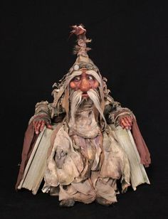 """Quite often, young woman, it seems we are not going anywhere, when in fact, we are."". Wiseman by Toby Froud"