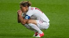 Canadaian women's soccer team captain Christine Sinclair reacts after losing to the U.S. at the 2012 Summer Olympics in Manchester (Kevin Van Paassen/The Globe and Mail)