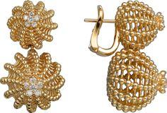Pendientes Cactus de Cartier Oro amarillo, diamantes
