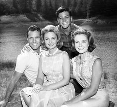 Carl Betz, Donna Reed, Paul Petersen and Shelley Fabares of The Donna Reed Show.