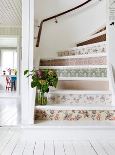 DIY Wallpaper Your Stairs