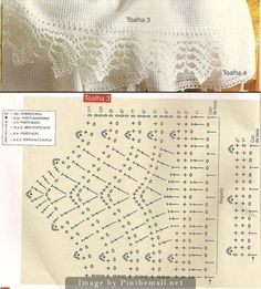 Crochet Lace Edging ~~ http://fotki.yandex.ru/next/users/tayrin2608/album/160986/fullscreen/459453?page=1 ~~ Many charts