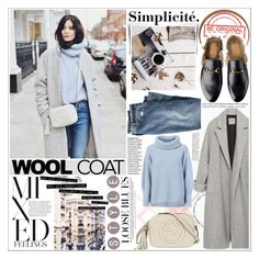 """""""WOOL COAt"""" by rinagq ❤ liked on Polyvore featuring moda, Zara, J.Crew, Maison Ullens, Gucci, women's clothing, women's fashion, women, female y woman"""