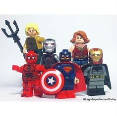 The Justice Avengers! Have a GREAT weekend everyone! (I'm headed to Boston for the ! Pop Marvel, Lego Marvel, Lego Justice League, Lego Photo, Lego Projects, Lego Super Heroes, Custom Lego, Stan Lee, Cool Lego
