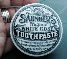 Saunders Fragrant White Rose Tooth Paste Victorian Pot Lid