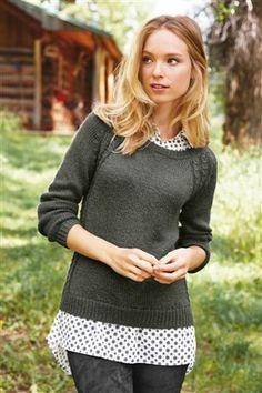 Spot Shirt Layer Sweater