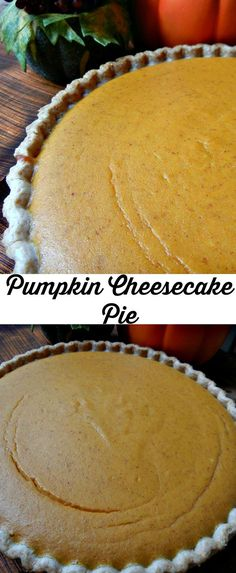 Slight twist on an old classic and it becomes an amazing new pie! This Pumpkin Cheesecake Pie is a wonderful classic pumpkin pie with creaminess of a cheesecake! Fall Desserts, Just Desserts, Delicious Desserts, Yummy Food, Christmas Desserts, Pumpkin Pie Cheesecake, Cheesecake Recipes, Dessert Recipes, Raspberry Cheesecake
