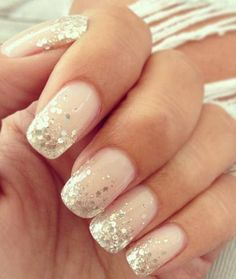Gold and White Wedding. Manicure, Pedicure, Nails. White, French Tip
