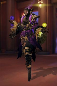 This would make an awesome skin. Moira scarecrow skin concept Overwatch