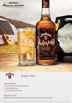 Branch out with an apple cider cocktail featuring Jim Beam Maple.