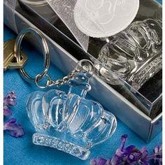 Glistening Crown Design Keychain Favor