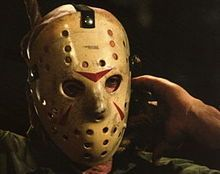 Jason Voorhees wearing the now-iconic goalie mask. It was made by being molded from a Detroit Red Wings goalie mask. It would become a staple for the . Canadian Things, Canadian Girls, Jason Friday, Canada Hockey, Goalie Mask, Canada Eh, Jason Voorhees, Detroit Red Wings, My Heritage