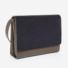 ef350bc9270 The Petra Crossbody - Everlane Brown And Grey, Modern Essentials, Italian Leather  Handbags,