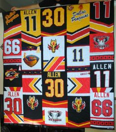 Very cool. Hockey Jersey quilt