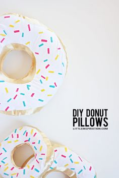 DIY Donut pillow tutorial | perfect for donut party seating area