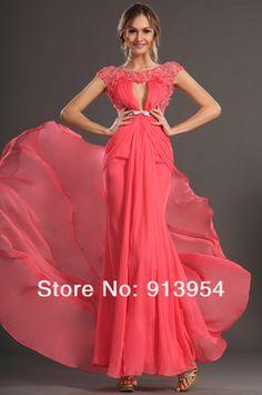 nupcial ángel nueva llegada sexy 2013 señoras gasa vestidos de noche de fiesta formal vestido sin espalda en de en Aliexpress.com
