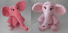 Cute elephants! ☺ Free Crochet Pattern ☺