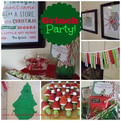 great grinch party lots of ideas for a low key but really fun kids christmas party nothing complicated or expensive but your kids and their friends will