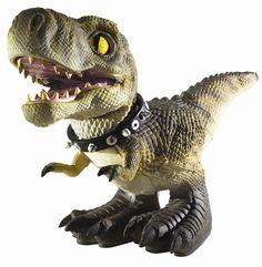 El D-REX Interactivo es lo último en mascotas. Un dinosaurio feroz y a la vez leal con una personalidad independiente, el D-Rex combina robotics, software propio y piel de reptil para crear una apariencia y comportamiento como el de uno vivo. Caminará, comerá , enseñará sus dientes y gruñirá para decirte que quiere. PAGINA: mattel.com.mx