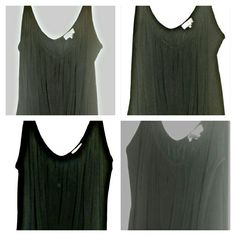MONROE & MAIN BLACK CAMI Stetchy material  Light weight  Soft V-neck in the front as well as the back Shirt ends in a v and is very flowy. ..it is very flattering   Looks brand new monroe&main Tops Camisoles