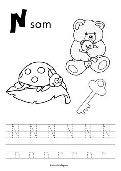 Namnlös Letter Tracing Worksheets, Tracing Letters, Preschool Letters, Language Activities, Activities For Kids, Letter Of The Week, Coloring For Kids, Kids Learning, Literacy
