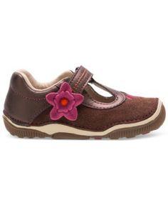 Stride Rite Toddler Girls' or Baby Girls' Teagan T-Strap Shoes - Brown 6.5M
