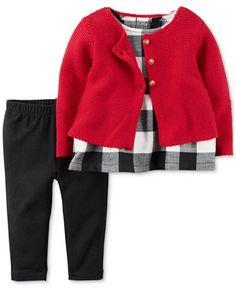 Carter's 3-Pc. Cardigan, Tunic & Leggings Set, Baby Girls (0-24 months)
