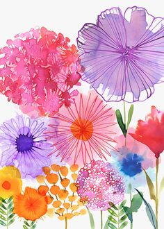Flores modernas pintadas