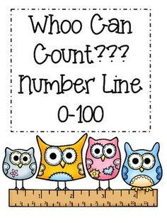 Address common core standards with this 0-100 Owl Number Line. Each number is written in standard and word form. Students can find patterns in the matter in which owls are used throughout the number line. Print on cardstock, laminate and connect to create a complete 0-100 number line.