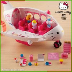 Imaginations take flight with this fun, Hello Kitty airplane!