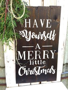 Merry Little Christmas  Christmas Sign  Wood by KriegerCustoms