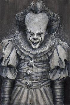 🎃 Day Pennywise The Dancing Clown Original watercolor, ink and copic marker on gray tone paper is available at devinfrancisco. Pennywise the Dancing Clown Pennywise Film, Pennywise Tattoo, Pennywise The Dancing Clown, Clown Horror Movie, Arte Horror, Horror Art, Horror Film, Horror Movies, Clown Faces