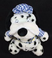 Plush Stuffed Dalmatian Puppy dog Blue Gingham hat Jacket Toy Lovey