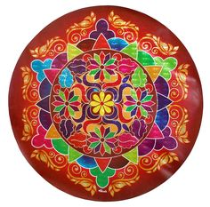 Colorful Sticker Rangoli Print on Glazed Paper (Ritual Print on Sticker for Wall…