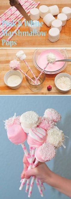 Marshmallow cake pops simple and yummieeee great for birthday celebrations