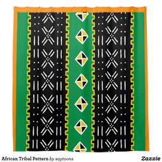 African Tribal Pattern shower curtain from #Saytoons
