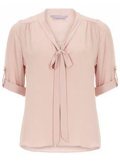 Petite blush pussybow blouse - Blouses & Shirts  - Clothing