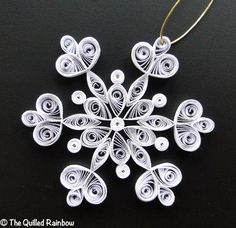 Quilled Snowflake  Christmas Ornament in by TheQuilledRainbow, $5.99