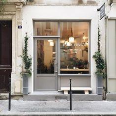 Arthur Gosse - the perfect place for a coffee break at Cafe Exterior, Exterior Design, Cafe Restaurant, Restaurant Design, Design Commercial, Small Cafe Design, Boutique Deco, Cafe Interior Design, Coffee Shop Design