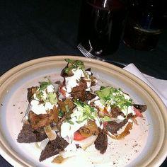 Carmens De La Calle Cafe - San Antonio, TX, United States. Yummalicios steak bruchetta!