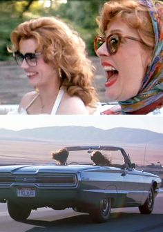 Susan Sarandon, Geena Davis in Thelma Louise (Ridley Scott, Thelma Louise, Thelma And Louise Movie, Movie Stars, Movie Tv, Geena Davis, Susan Sarandon, Chick Flicks, Great Movies, Movies Showing