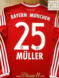 2013 14 Bayern Munich Home Football Shirt Müller  25 (M) 0a6325d5b