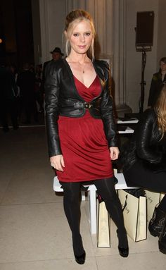 Emilia Fox, Pantyhosed Legs, Leather Skirt, Leather Jacket, Celebrity Beauty, Black Tights, Celebs, Celebrities, Business Casual