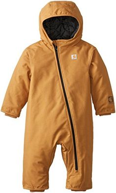 49898a431 Carhartt Baby Boys Quick Duck Snowsuit Carhartt Brown 24 Months >>>
